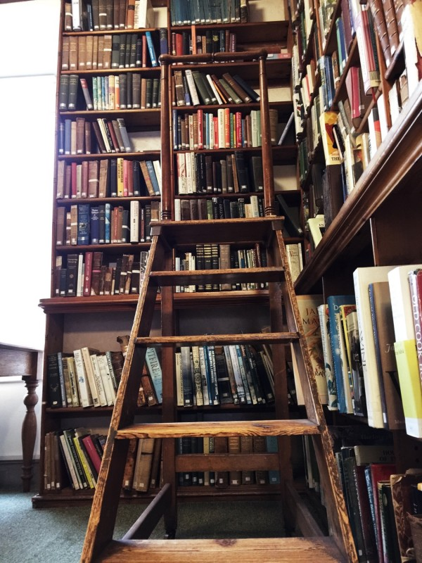 Library ladders and book cases