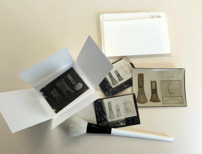Repackaging glass negatives