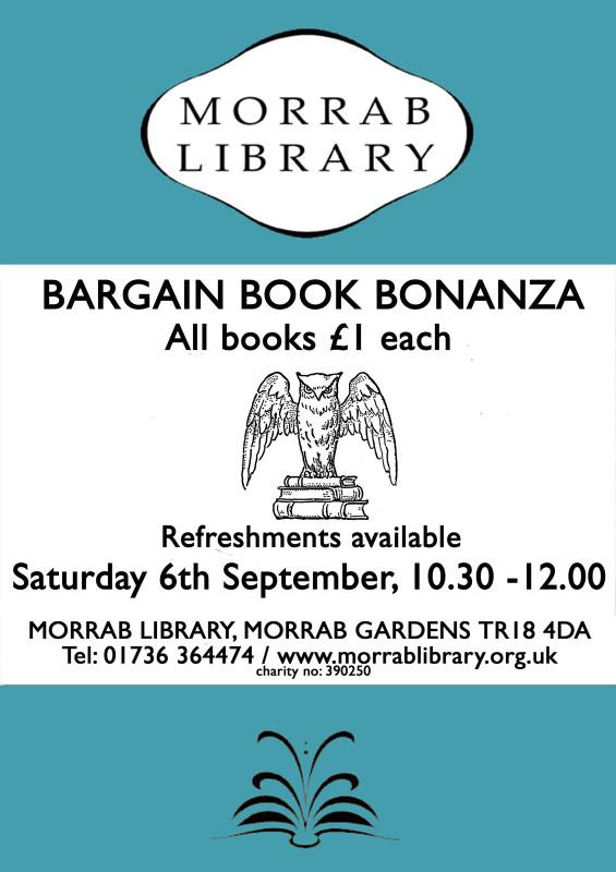 Bargain Book Bonanza Sat 6 Sept web copy