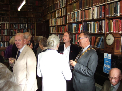 Guests at the grand opening, including Penzance's Mayor David Nebesnuick