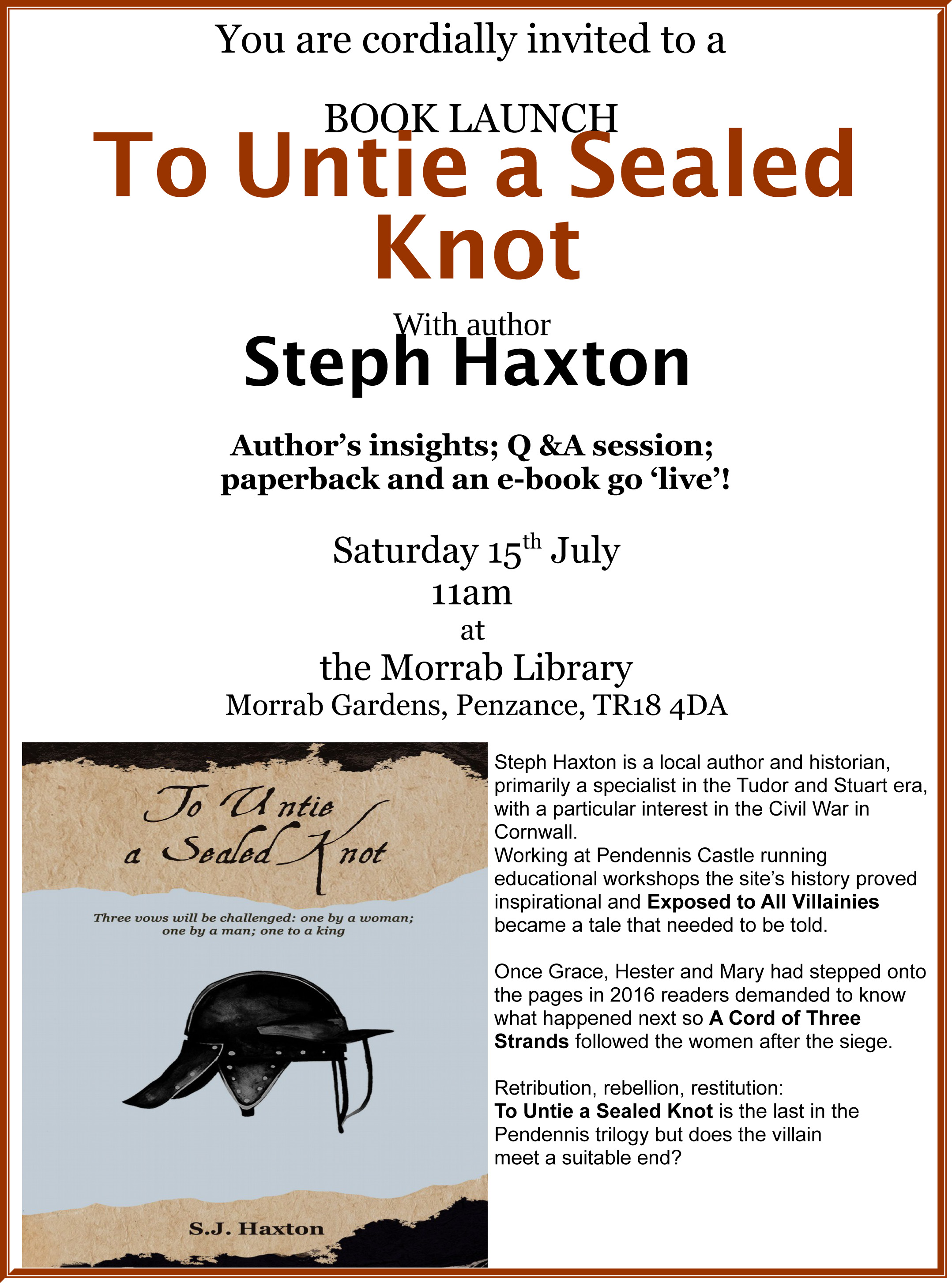 To Untie a Sealed Knot Launch Poster